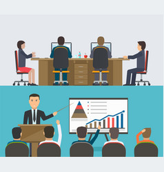 Training seminar concept a group of people vector