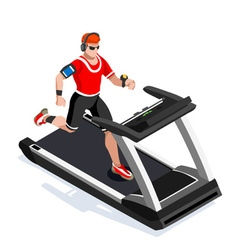 Treadmill Gym Class Working Out Isometric Image vector image