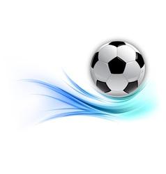 football on abstract shape smoke blue vector image vector image