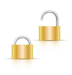 Locked and unlocked padlock Icon isolated on white vector image