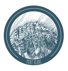 mont blanc vector image