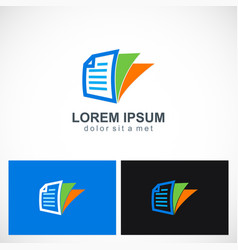 paper note office document logo vector image