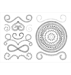 set of marker strokes vector image