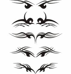 tribal tattoo samples vector image vector image