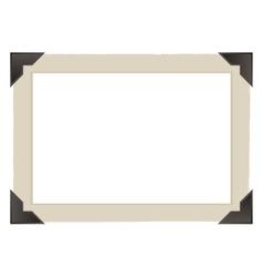 vintage photo frame design vector image