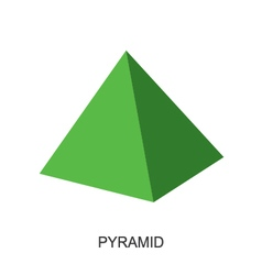 3d shape pyramid vector