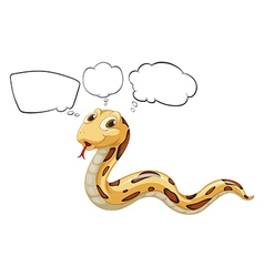 A snake with empty bubble notes vector image