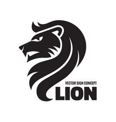 Animal lion head - logo template concept vector