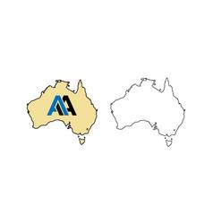 Australia map and australian map des vector