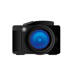 black camera icon image vector image