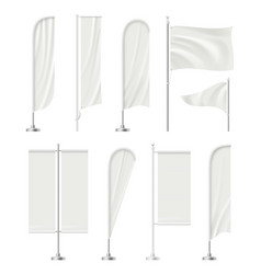 blank beach flag outdoor empty stands for vector image