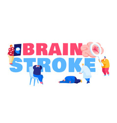 Brain stroke concept ambulance hospitalize vector