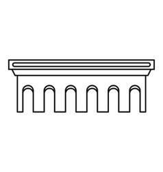 Bridge icon outline style vector
