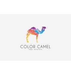 Camel logo Color camel logo design Animal logo vector image