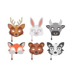 Cartoon animal party mask vector image vector image
