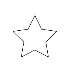christmas star decoration ornament linear vector image