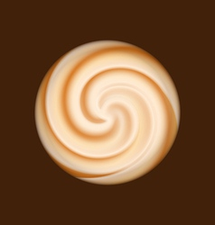 Coffee and milk cream texture vector