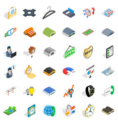 Consumer activity icons set isometric style vector