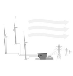 current trends in the use of renewable energy vector image