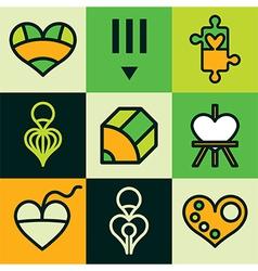 design logo icons vector image