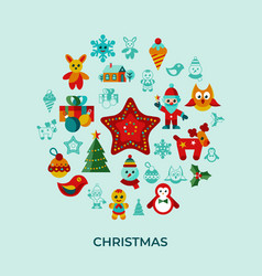 Digital merry christmas and new year vector