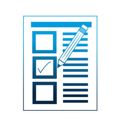 document paper check mark pencil vector image