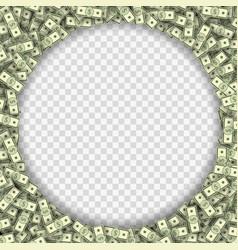 Dollar banknotes frame vector