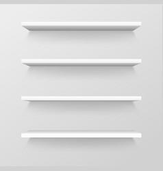 Empty store shelves blank retail showcase vector