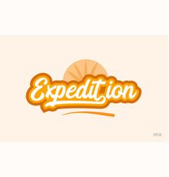 Expedition orange color word text logo icon vector