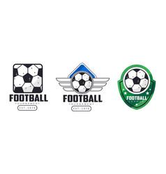 Football tournament logo templates set sport team vector