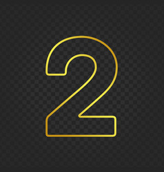 Gold glittering number 2g vector