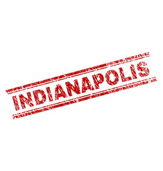 Grunge textured indianapolis stamp seal vector