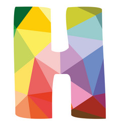 H colorful letter isolated on white background vector
