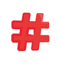 hashtag social symbol vector image