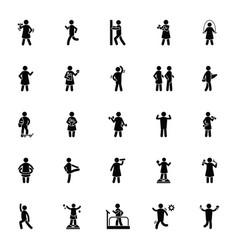 Healthy life glyph icons vector