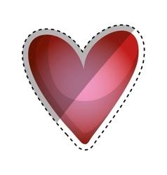 Heart love silhouette vector