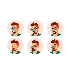 hipster man avatar creative modern hipster vector image