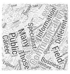 Jobs for communications majors Word Cloud Concept vector
