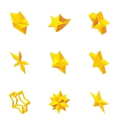 Kind of stars icons set cartoon style vector