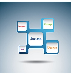 Label diagram of success concept vector image