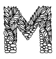 Letter alphabet m vector