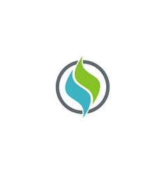 letter s wave eco logo vector image