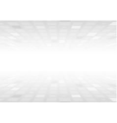 light grey squares abstract technology background vector image