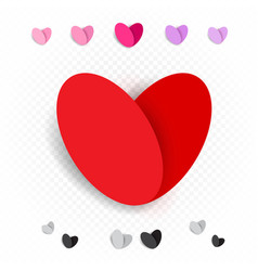 love heart decoration set vector image