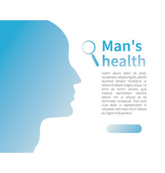 Male silhouette man health advertising banner vector