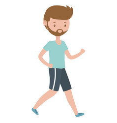 Man cartoon with sport cloth design vector