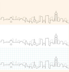 Manila hand drawn skyline vector