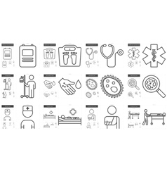 Medicine line icon set vector image