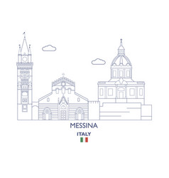 messina city skyline vector image