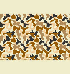 Military brown camouflage pattern vector